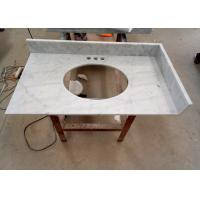 Wholesale 22 Inch Prefab Vanity Tops / White Carrera Marble Countertops Durable For Home from china suppliers