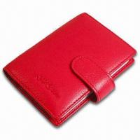 Wholesale Card Wallet, Measures 10.5 x 8.5 x 1cm, Various Colors are Available, Made of PVC Leather from china suppliers