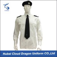 Buy cheap White Color Breathable Security Guard Shirts With Two Front Chest Pockets / Pen Slot from Wholesalers