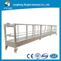 Wholesale aluminum Suspended access platform, wire rope hanging platform, suspended cradle from china suppliers