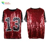 Buy cheap Red Black Plus Size Party Womens Sequin Clothing Round Neck Elbow Sleeve from wholesalers