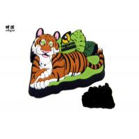 Buy cheap Promotion Silicone Souvenir Fridge Magnets , Custom Rubber Tiger Magnet from wholesalers