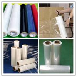 23mic clear casthand and machine PEstretchfilm,stretchFoil, pallet strech wrapfilm