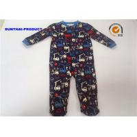 Wholesale 100% Cotton Crane AOP Baby Coverall Long Sleeve Crew Neck Over Tab Pram Suit from china suppliers