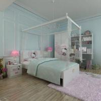 Wholesale Kids' Wooden Bedroom Furniture, E0 Grade, with Chair, Cartoon Figure Design from china suppliers