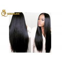 China Indian Original 100% Lace Front Human Hair Wigs With Bleached Knots on sale