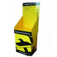 Wholesale Eco-Friendly Retail Cardboard PDQ Display For Clothing , Easily Assemble 1100 X 450 X 420mm from china suppliers