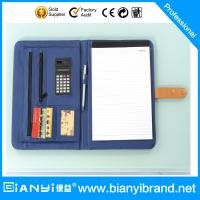 Wholesale PU Leather portfolio with closure in A4 size and pad from china suppliers