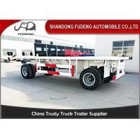 Wholesale 30 - 50 TonTowing Draw Bar Trailer Flat Bed / Chassis Shape Fuwa / BPW Axle from china suppliers