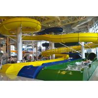 Wholesale Fibergalss Tube Yellow / Green Raft  Double People Play Water Slides Two Lines from china suppliers