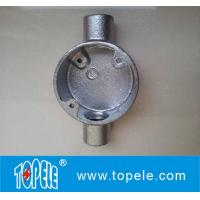 Wholesale 20mm, 25mm BS4568 Two Way Malleable Iron Circular Junction Box - Through Way from china suppliers