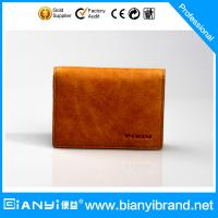Wholesale New Model Spliced PU Leather card bag from china suppliers
