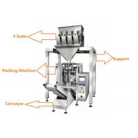 China 1KG Sugar / 1KG Rice Grain Packing Machine With 4 Linear Weigher on sale