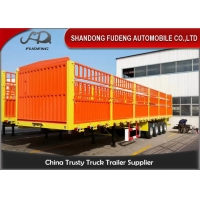 Wholesale Carbon Steel 3 Axles Livestock 60T Side Wall Trailer from china suppliers