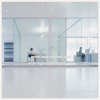 Wholesale 6 mm Clear or Frosted tempered glass office partition walls from china suppliers