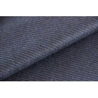 Elegant Stripe Jacquard Material Wool Twill Fabric For Pants Rolled In 50 - 80 Meters