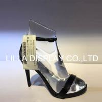 Wholesale Lilladisplay-AF-2 Roger vivier use–High heel shoe display foot form solid acrylic clear color 7-9cm from china suppliers