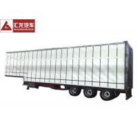 Wholesale Easy Operation Curtainsider Semi Trailer , Curtain Van Trailer Double Side Channel from china suppliers