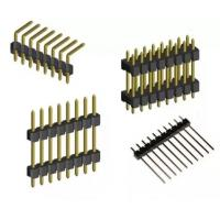 Wholesale 1.27mm pitch  Dual Row  Double plastic DIP 2*30 P male pin header socket from china suppliers