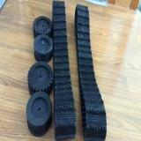 Wholesale Small  Rubber Tracks Rubber Crawler  for Robot 100*20*76 from china suppliers