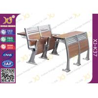 Buy cheap Aluminum College Furniture Ladder Folding School Desk And Chair 520 * 480 * 780 from wholesalers