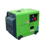 Wholesale 4.5kw diesel silent portable generator green color 100% Copper 1 phase from china suppliers