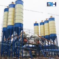 China Horizontal Twin Shaft Mixer Batching Plant Low Noise For Construction Site on sale