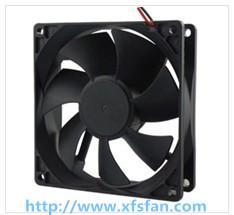 92*92*25mm 12V/24V/48V DC Black Plastic Brushless Cooling Fan DC9225