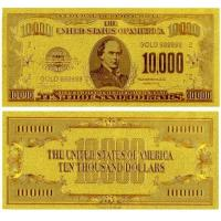 China 24k Gold American $10000 Dollars Banknote on sale