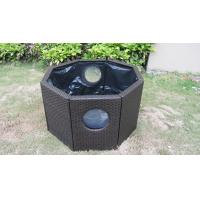 Quality Strong Dark Brown Rattan Fish Tank With Power Coated Aluminum Frame for sale