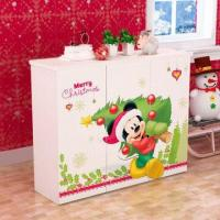 Wholesale E0 Grade Kids' Furniture/Children Furniture, 3-door Shoe Cabinet with Printed Cartoon Pictures from china suppliers
