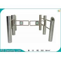 Wholesale Bridge Supermarket Swing Gate Fingerprint Card Reader Optional Pedestrian System from china suppliers
