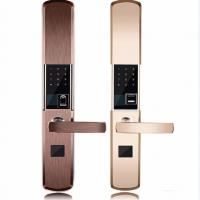 Quality Intelligent Zinc Alloy Fingerprint Door Lock With Super C Class Cylinder for sale
