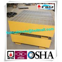 Wholesale Steel Drum Spill Containment Pallets , Spill Containment Platform Yellow from china suppliers