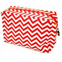 China chevron cosmetic bag wholesale /chevron canvas makeup bag on sale