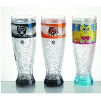 Wholesale HT-18 plastic tall beer cup colors gel water PS material Cold drinks beer cup custom LOG from china suppliers