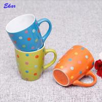 Wholesale 2018 wholesale multi-color 11oz ceramic coffee mug with dots from china suppliers