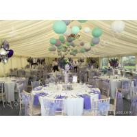China Colorful Ball Decoration Luxury Wedding Tents , Huge Canopy Tent Anodized Aluminum Frame on sale