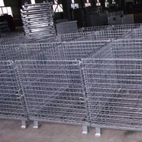 Wholesale Supermarket Stainless Steel Metal 2.5mm Wire Mesh Storage Cages from china suppliers