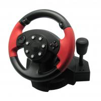 Quality Vibration PS3 / PS2 Steering Wheel And Pedals With 180 Degree Rotation Angle for sale