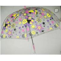 Colorful Clear Canopy Bubble Dome Umbrella Plastic Hook Handle Stick Metal Frame