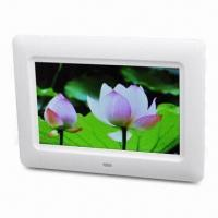 Wholesale 480 x 234 7-inch TFT Digital Photo Frame, Play Audio/Photo/Video, Supports SD/MMC/MS Card/USB Drive from china suppliers