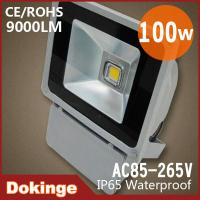 Wholesale USA Cree Chip 100w 85-265V Waterproof led floodlight IP65 9000LM silver housing CE&ROHS from china suppliers