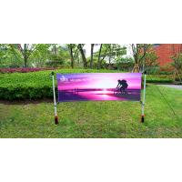 China Advertising Outdoor Banner Stands With Spike / Twist Custom Width Height on sale
