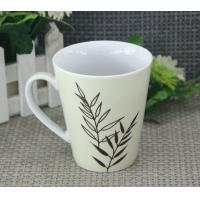 Wholesale Food Safety 300ml White Porcelain Mugs With Round / Organic Shape from china suppliers