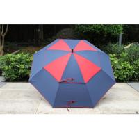 Wholesale OEM Double Layer Custom Golf Umbrella Automatic With Air Vent / Silk Screen Print from china suppliers