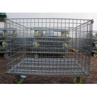 Wire Mesh Container with Wheel,Removable Mesh Container,5.0-7.0mm,5x10cm