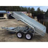 Wholesale 2000kg 10 X 5 Tandem Trailer / Galvanised Tipper Trailer With Checker Plate Rolled Body from china suppliers