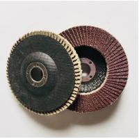 China 115mm Aluminium oxide abrasive grinding flap wheel discs for stainless steel on sale