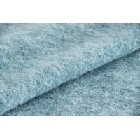 Buy cheap Plush Soft Textile Solid Blue Fabric , Fashion Wool Mohair Upholstery Fabric from Wholesalers